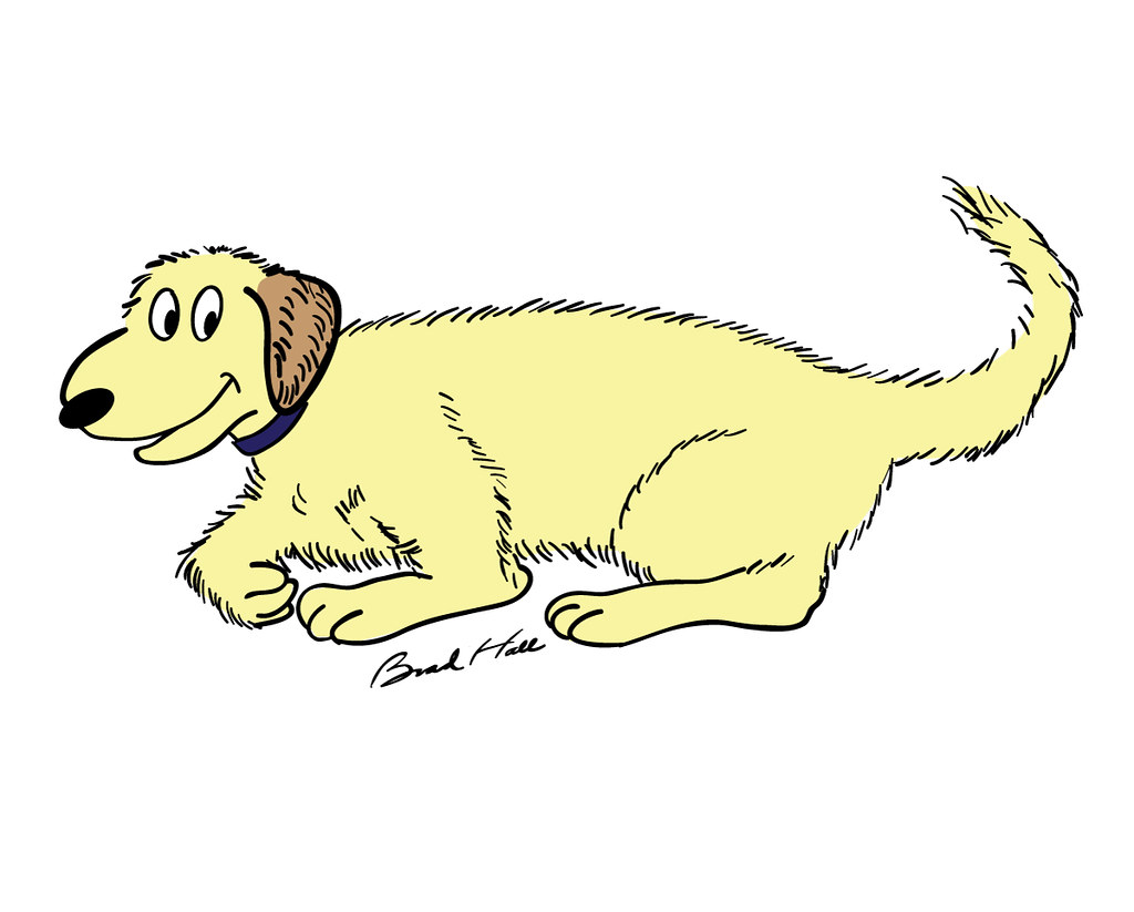 Copyright Free Cartoon Drawing Of A Dog Cartoon Of A Labra Flickr