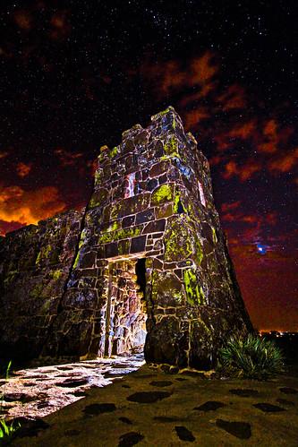 light lightpainting castle night clouds painting stars kansas neptune coronadoheights skyporn canon7d