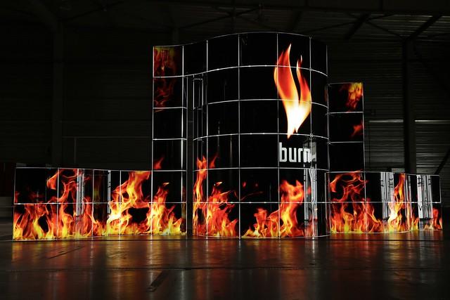 Exhibition stand Di mare 2.0 .Burn