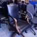 Leather exec swivel chair