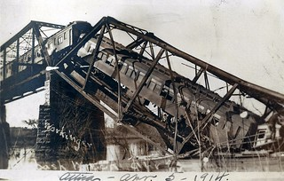 Attica, Indiana, Train Wreck, Wabash Railroad, Bridge | by photolibrarian