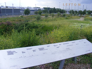 Leyton panorama with bird boxes sign and Eurostar depot. | by sludgegulper