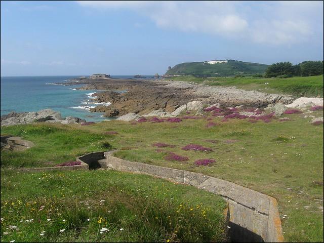The east coast of Alderney