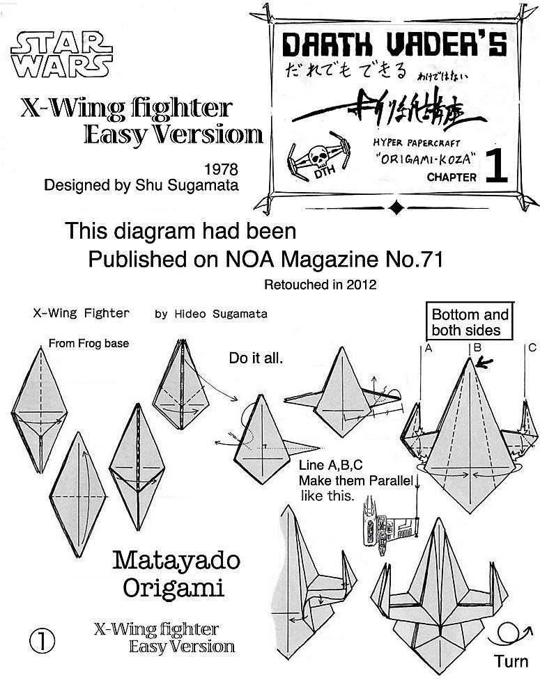 Origami Diagrams O Xwing Fighter Origami Diagram Easy Version