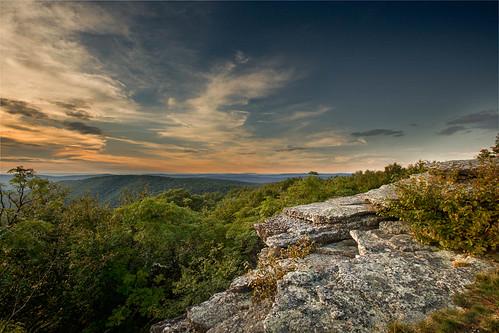 sunset mountains nature outdoors hiking bald knob baldknob