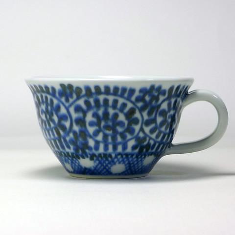 砥部焼 陽貴窯「紅茶碗/水玉蛸唐草」 | by bazartjp