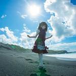 2012/8/26 伊豆大島 野増 砂の浜海水浴場 ミルヒ