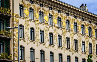 Secession architecture in Vienna. Otto Wagner house | by Tigra K