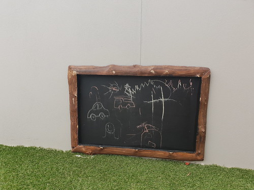 Log framed blackboard | by stewwinsor