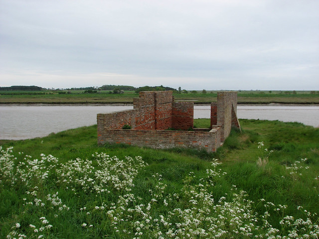 Old World War II remains beside the Butley River