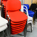 Fabric stacking chairs E35