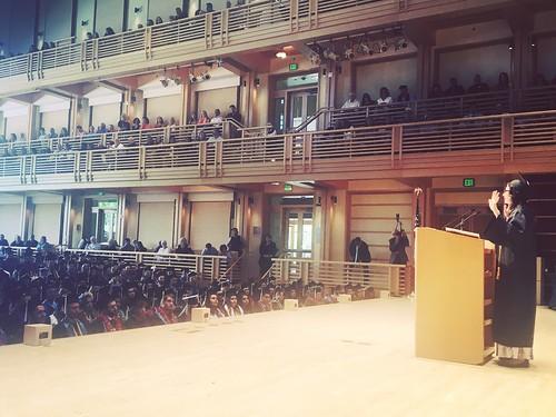 Sastra giving her inspirational speech at graduation!!!