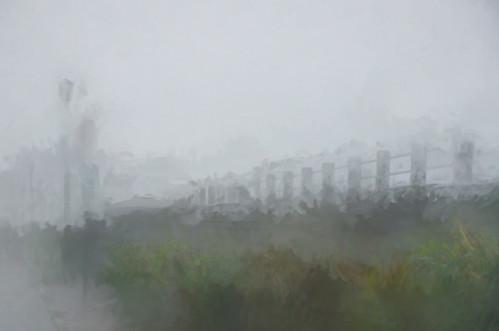 fog mist battery batteryrow charlestonpeninsula cooperriver ashleyriver batterypark charleston charlestonsc charlestonsouthcarolina southcarolina charlestowne charlestonharbor