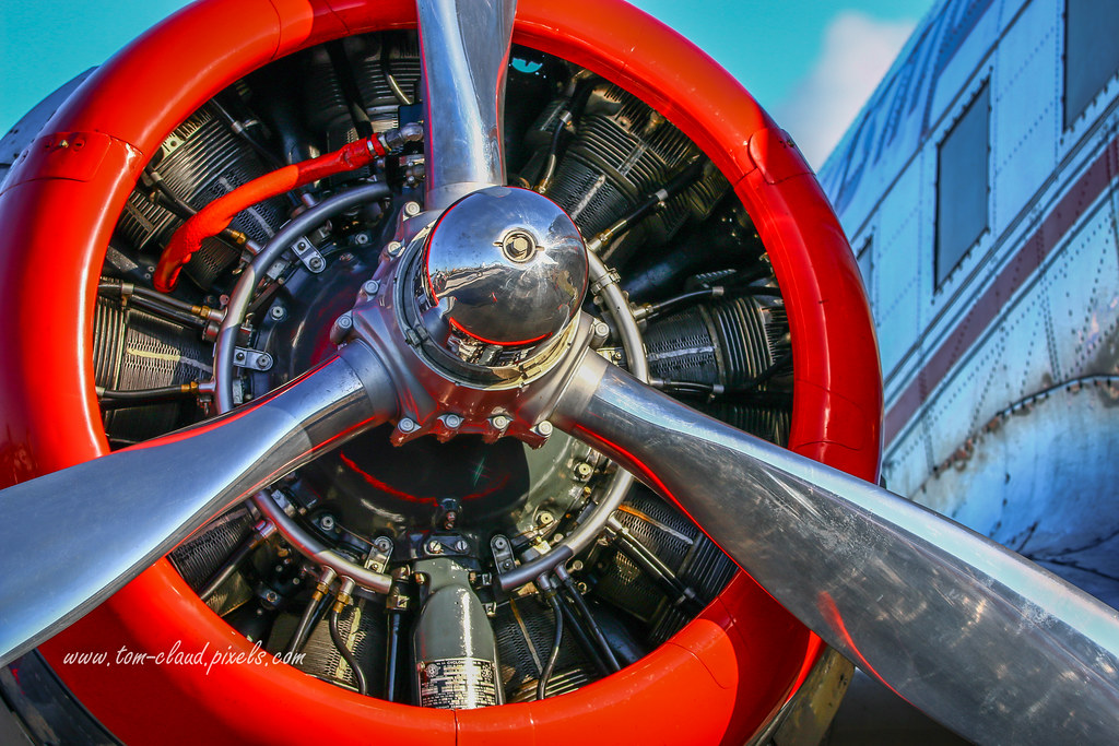 Radial Piston Engine | This aircraft's radial piston engine … | Flickr