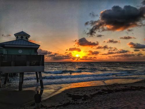 junobeachpier juno junobeach atlanticocean ocean atlantic beach sunrise sun florida fla fl sky sand water sea