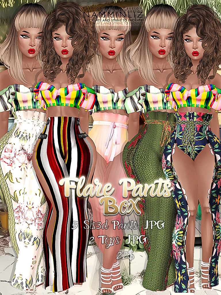 Flare Pants Box ( 5 Sis3d Pants + 2 Tops + 5 Ads PNG ) ^ -… | Flickr