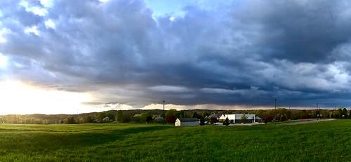 sunset michigan usa spring may 2018 wcbc landscape panorama android