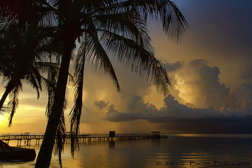 sunset gulfofmexico clouds palmtrees pineisland bokeelia