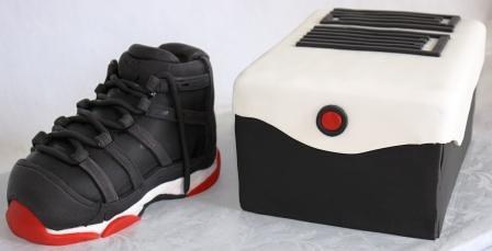 Nike Air Jordan 11 Shoe and Shoebox Birthday Cake   Jeanne   Flickr