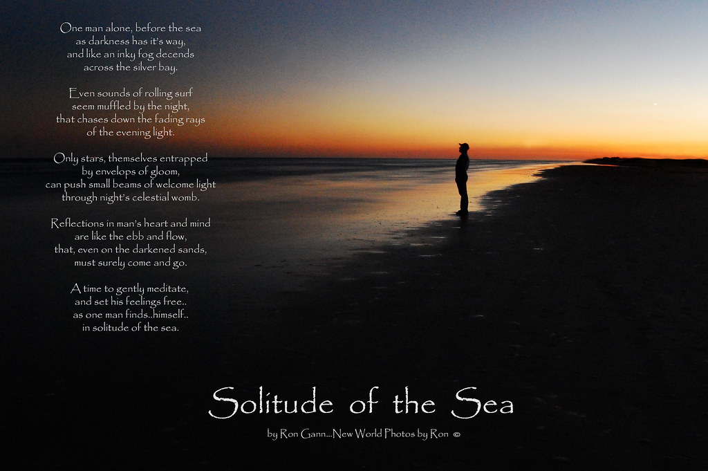 solitude of the sea with poem   this image, one of my more p