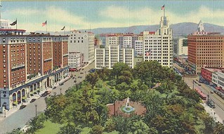 pershing square aerial view postcard   by richardschave