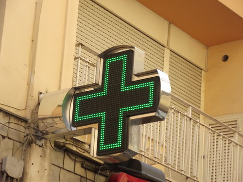 Green cross - Piazza S. Antonino - Sorrento | by ell brown