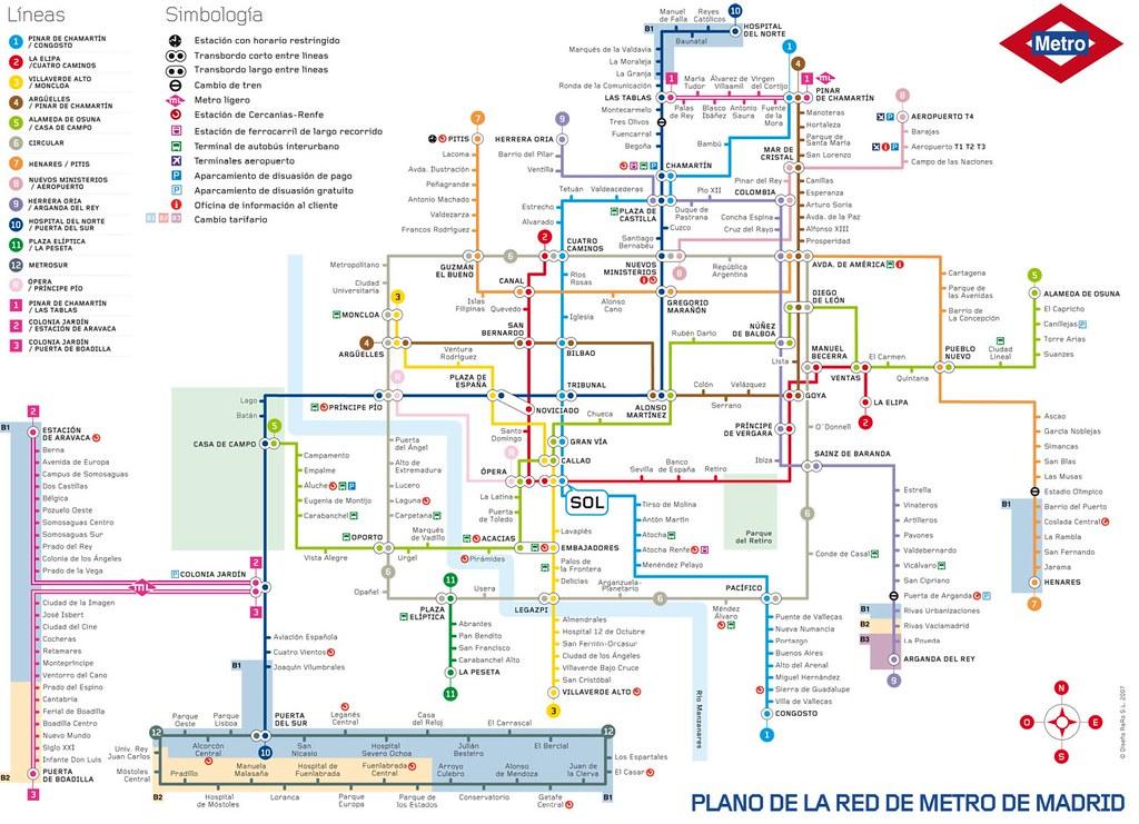 Mapa Metro De Madrid.Mapa De Metro De Madrid 2012 Zona Retiro Flickr