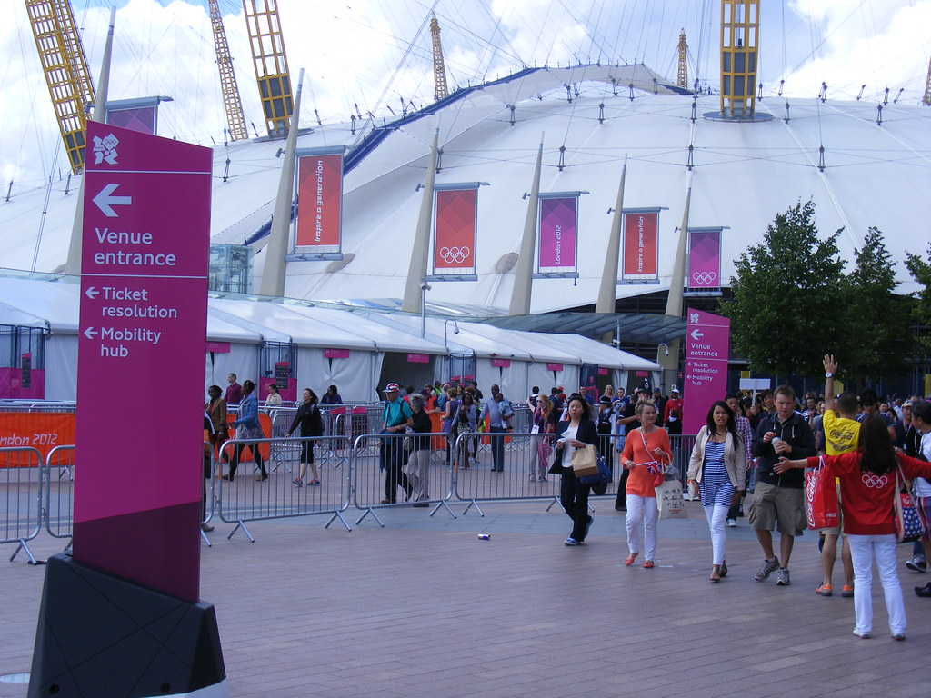North Greenwich O2 dome. 2012 olympic games