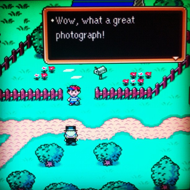 Thanks! (playing an old favorite) #earthbound #snes | Flickr