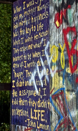 life blue happy graffiti platform happiness johnlennon understanding viewingplatform coth supershot pjddigipic soapstonemountainct