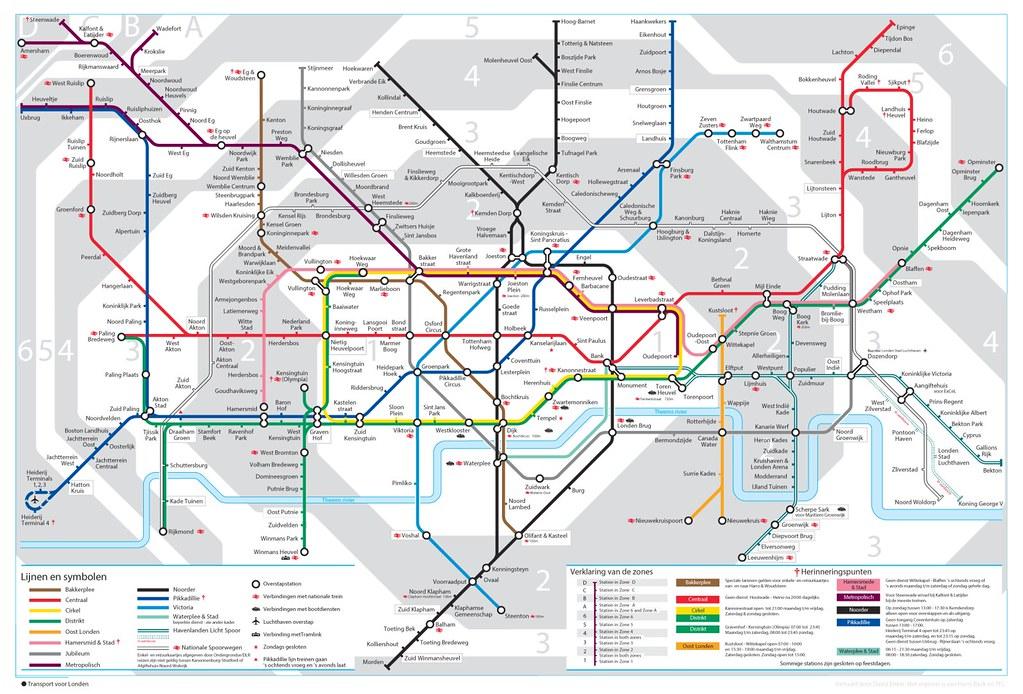 London Public Transport Map.London Tube Map In Dutch London Public Transport Map Trans Flickr
