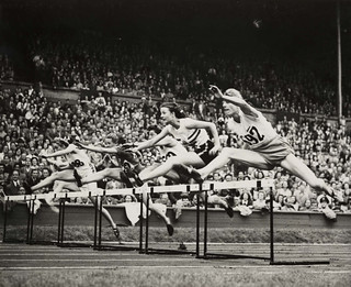 Women's final of 80 metres hurdles, Olympic Games, London, 1948. | by National Science and Media Museum