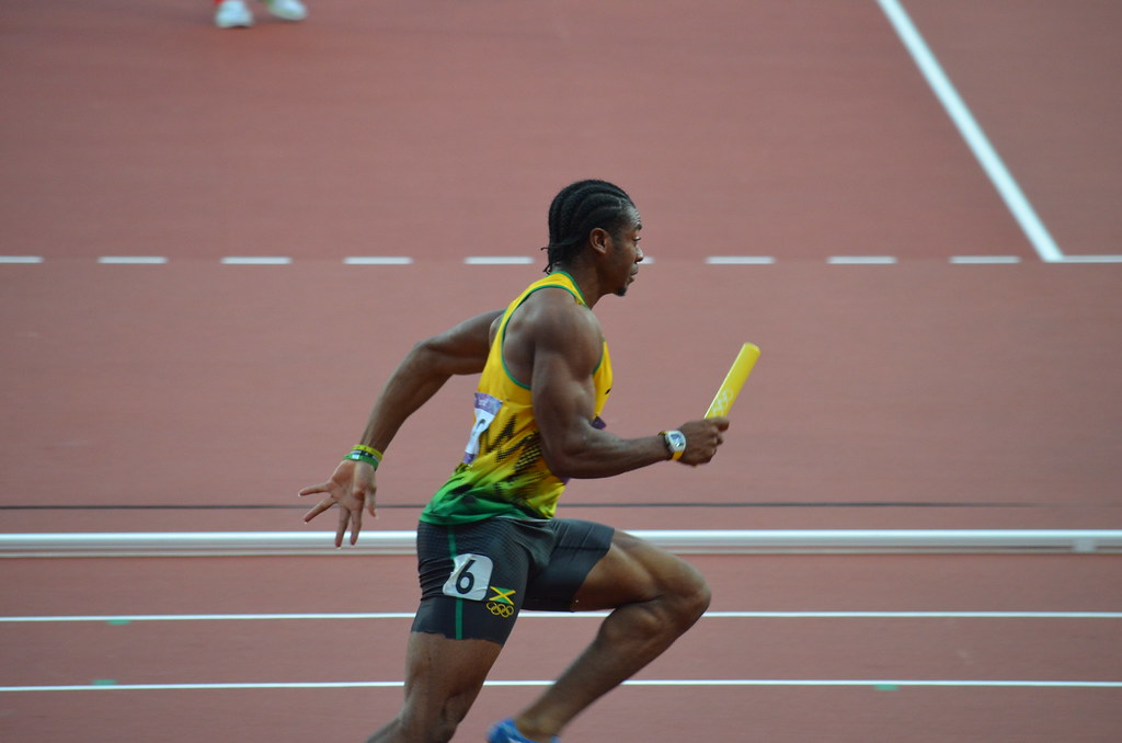 DSC_1013 | Yohan Blake running third leg of Jamaican relay t… | Flickr