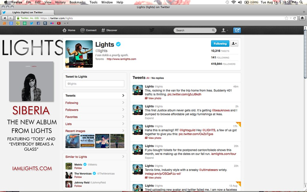 LIGHTS USING MY PHOTO AS HER TWITTER PROFILE PIC!!! | Flickr
