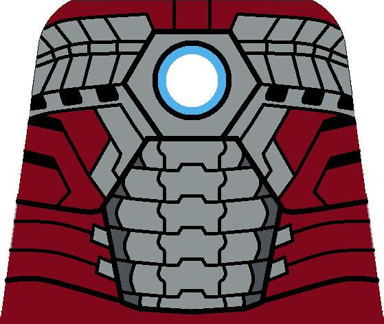 Iron Man Mark V Torso | Custom lego Iron Man Mark V Torso as