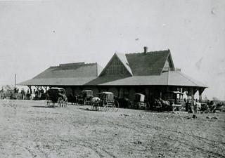 Old Santa Fe train station - Claremont 1887