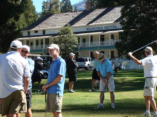 Warming up in front of the Wawona Hotel 2010