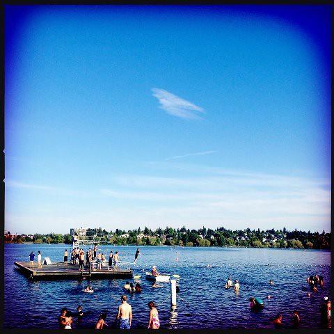West Green Lake bathing beech