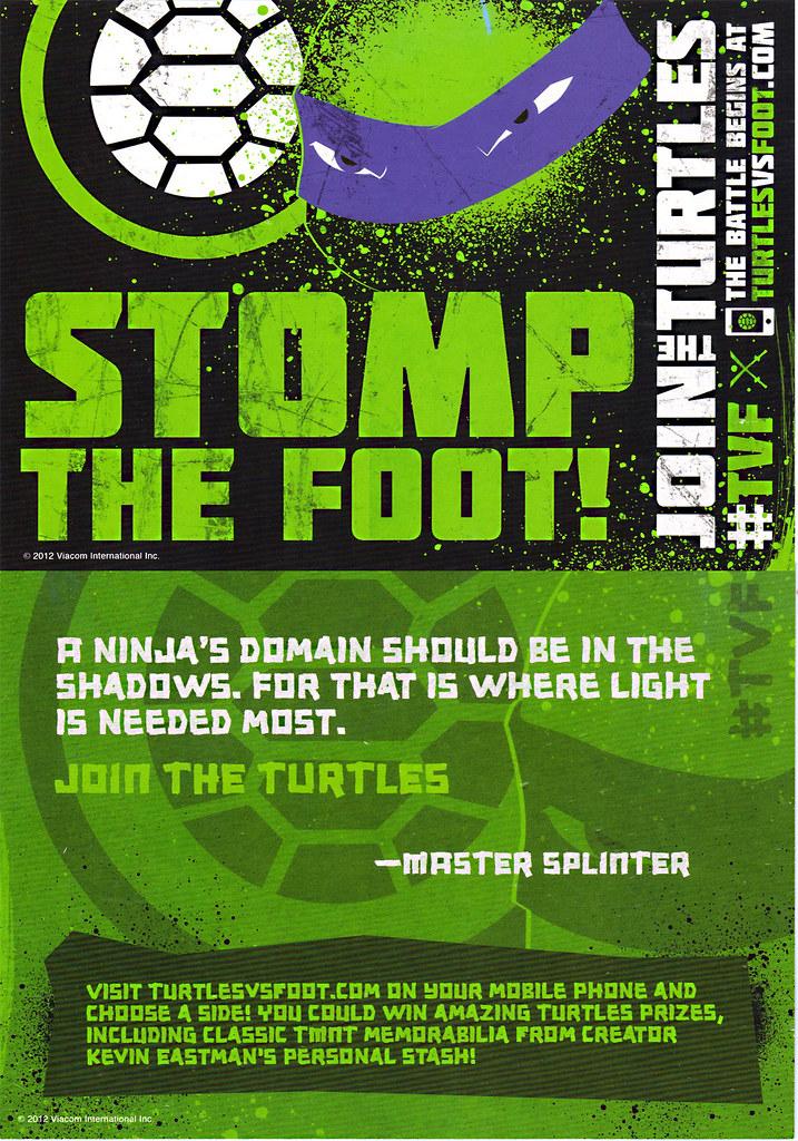 """Nickelodeon's """"Turtles Vs. FOOT """" - PRO-TMNT FLYER (( 2012 )) by tOkKa"""