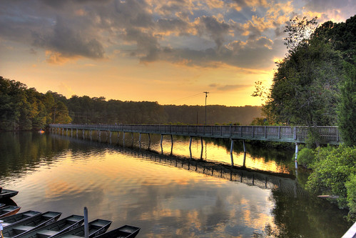 bridge sunset nc northcarolina hdr lakejohnson nclandscape