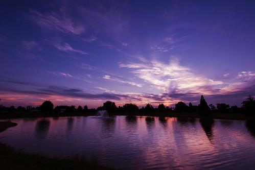 york sunset sky lake reflection nature water fountain clouds landscape evening pond nikon pennsylvania pa 14mm d700 pennsylvaniasunset 1424mmf28ged
