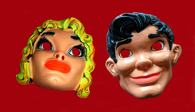 Lil Abner and Daisy Mae Halco Masks 3161