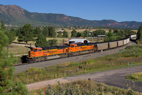 bnsf bnsf9328 emd sd70ace monument colorado jointline rampartrange coaltrain train railroad