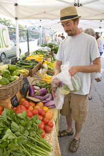 Justin shopping at Gibbs Road Farm booth (June 2012) | by Brookside Farmers' Market