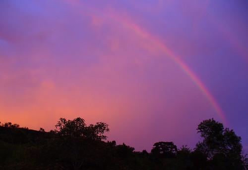 sunset colors rainbow costarica