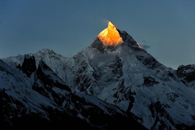 Masherbrum Peak (7821 m) at Sunrise