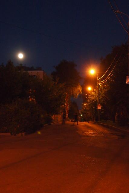 ghost stranger under the full moon