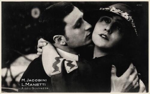 Maria Jacobini and Lido Manetti in Addio giovinezza