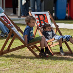 children on deckchairs | Children on the deckchairs