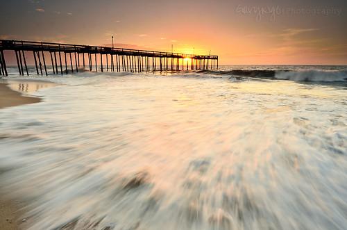 light usa seascape motion beach sunrise pier fishing nikon maryland wave oceancity 1224mm d7000